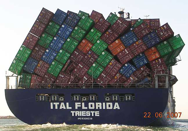 Falling Shipping Containers
