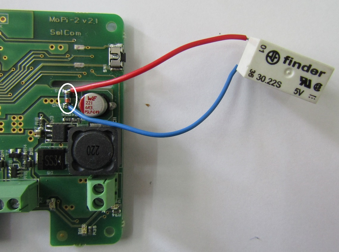 Mopi 2 Hot Swap Mobile Power For The Pi Raspberry Relay Wiring Diagram It Has To Be Soldered Pads Labeled Extrly Follow Polarity And Picture Below Electrical Of Circuit Is Also Given