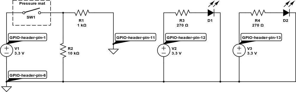 alarm with two LEDs