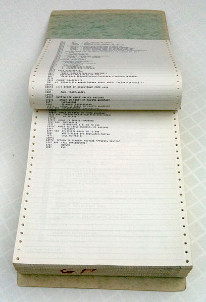 Old-style printer paper