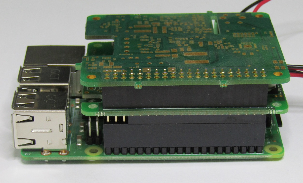 Mopi 2 Hot Swap Mobile Power For The Pi Wiringpi Serial Example An Empty Board Has Been Used As Second Add On